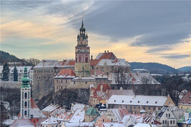 Картинки по запросу чешский крумлов зимой