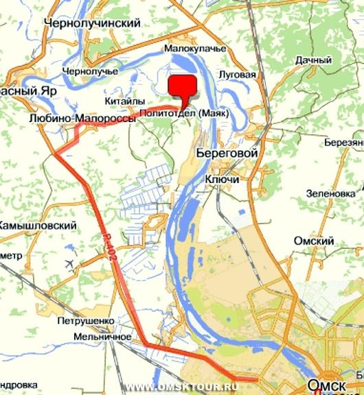Карта проезда в Политотдел