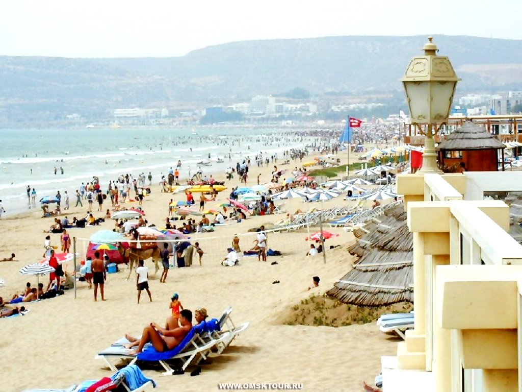 Марокко. Пляж в Агадире